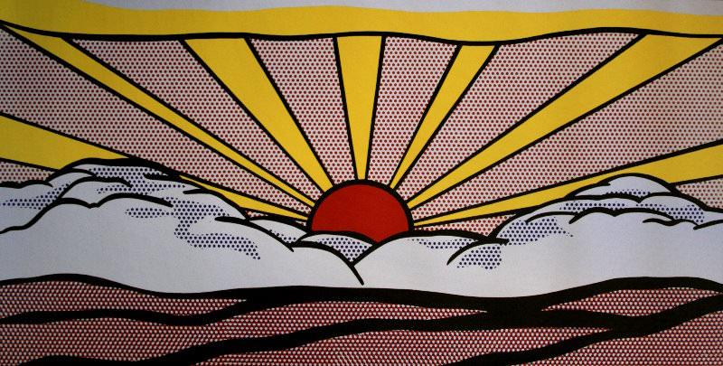 sunrise 1965 by roy lichtenstein. Black Bedroom Furniture Sets. Home Design Ideas
