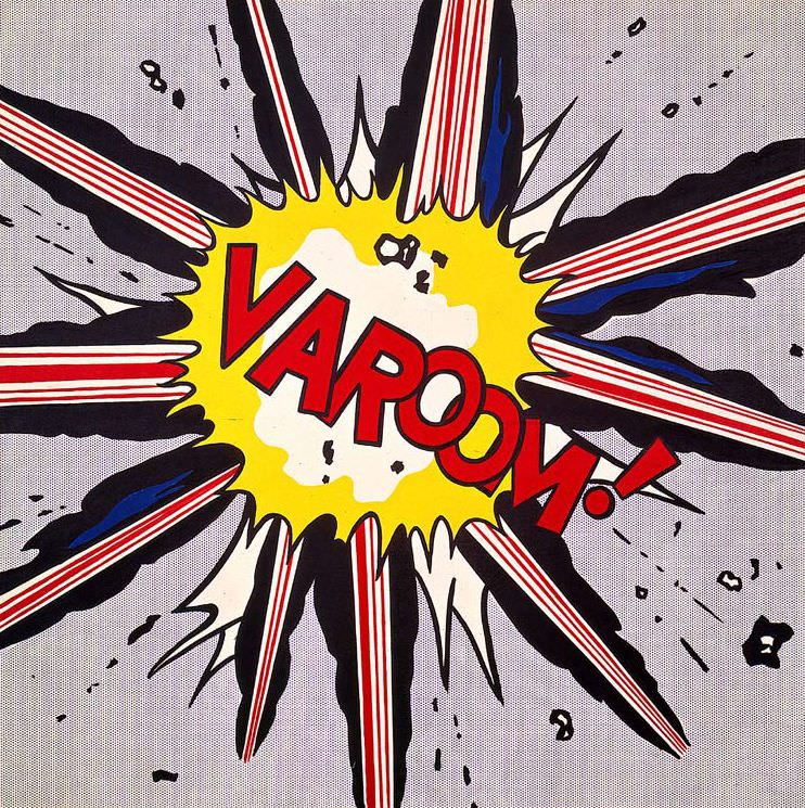Varoom!, by Roy Lichtenstein