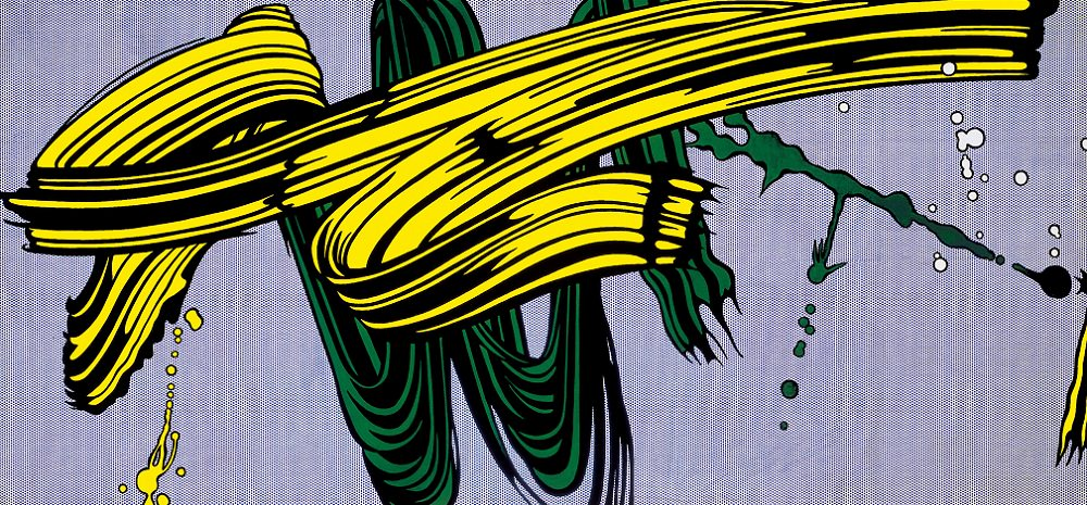 Yellow and Green Bushstrokes, 1965 by Roy Lichtenstein